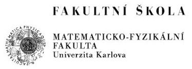 Univerzita Karlova v Praze Matematicko-Fyzikální fakulta